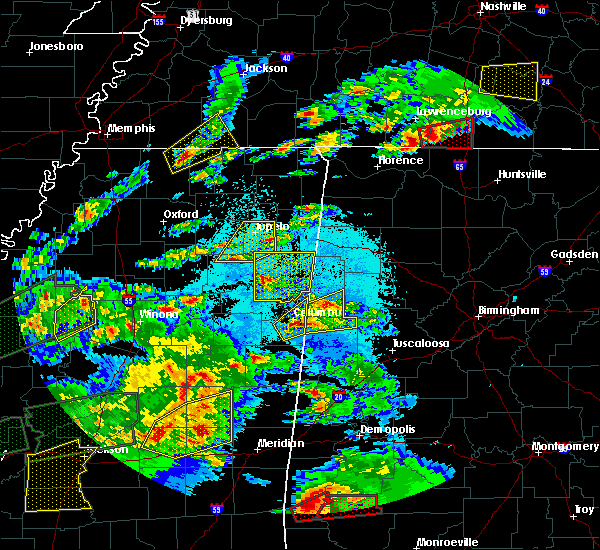 Radar Image for Severe Thunderstorms near Saltillo, MS at 3/31/2016 6:19 PM CDT