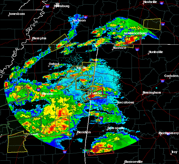 Radar Image for Severe Thunderstorms near Nettleton, MS at 3/31/2016 6:29 PM CDT