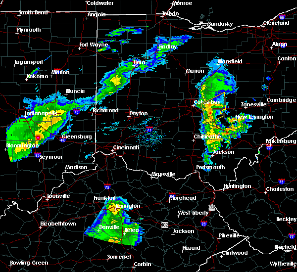 Radar Image for Severe Thunderstorms near St. Louisville, OH at 3/31/2016 7:32 PM EDT