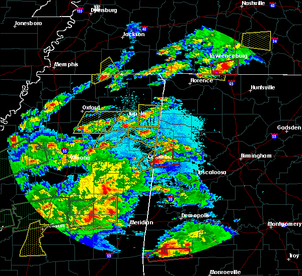 Radar Image for Severe Thunderstorms near Coffeeville, MS at 3/31/2016 6:35 PM CDT
