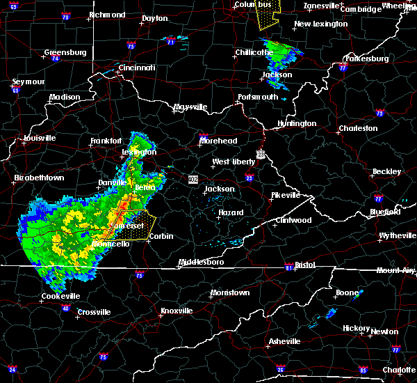 Radar Image for Severe Thunderstorms near Burnside, KY at 3/31/2016 7:42 PM EDT