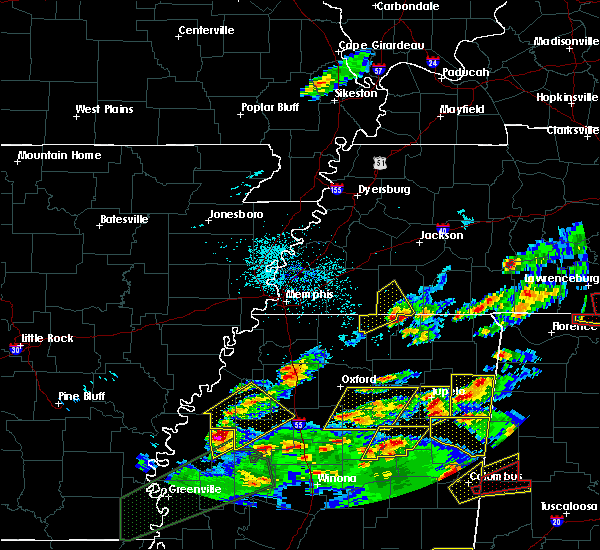 Radar Image for Severe Thunderstorms near Corinth, MS at 3/31/2016 6:45 PM CDT