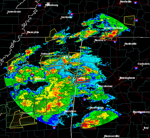 Radar Image for Severe Thunderstorms near Pontotoc, MS at 3/31/2016 6:45 PM CDT