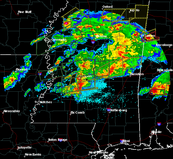 Radar Image for Severe Thunderstorms near Brandon, MS at 3/31/2016 6:45 PM CDT