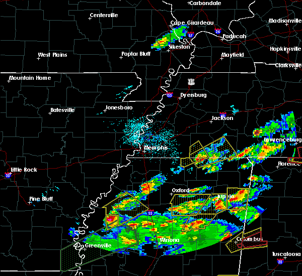 Radar Image for Severe Thunderstorms near Sumner, MS at 3/31/2016 6:45 PM CDT