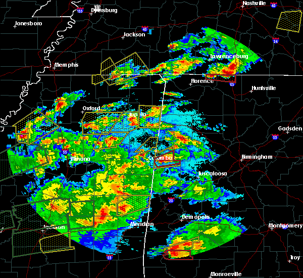 Radar Image for Severe Thunderstorms near Saltillo, MS at 3/31/2016 6:49 PM CDT