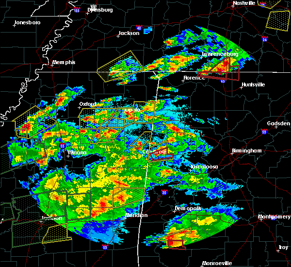Radar Image for Severe Thunderstorms near Shannon, MS at 3/31/2016 6:58 PM CDT