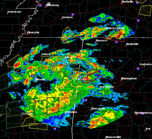 Radar Image for Severe Thunderstorms near Millport, AL at 3/31/2016 7:07 PM CDT