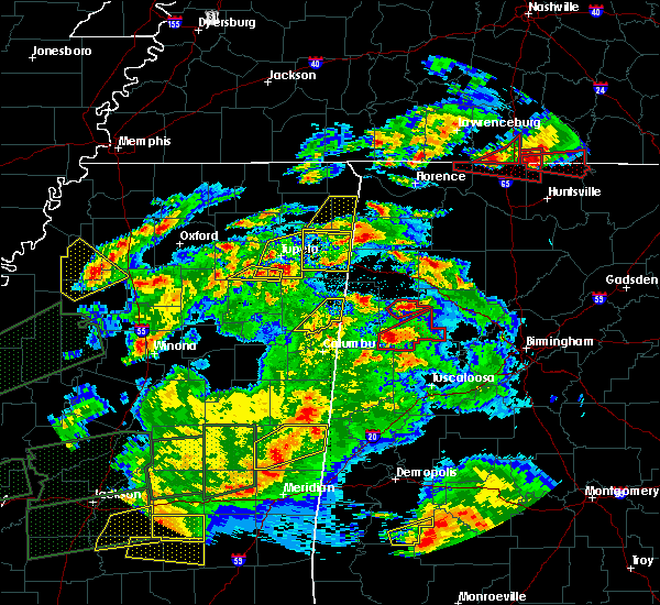 Radar Image for Severe Thunderstorms near Shannon, MS at 3/31/2016 7:21 PM CDT