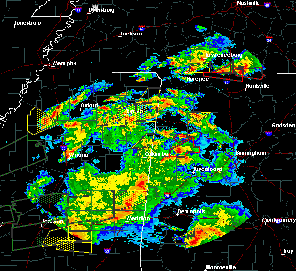 Radar Image for Severe Thunderstorms near Gattman, MS at 3/31/2016 7:27 PM CDT