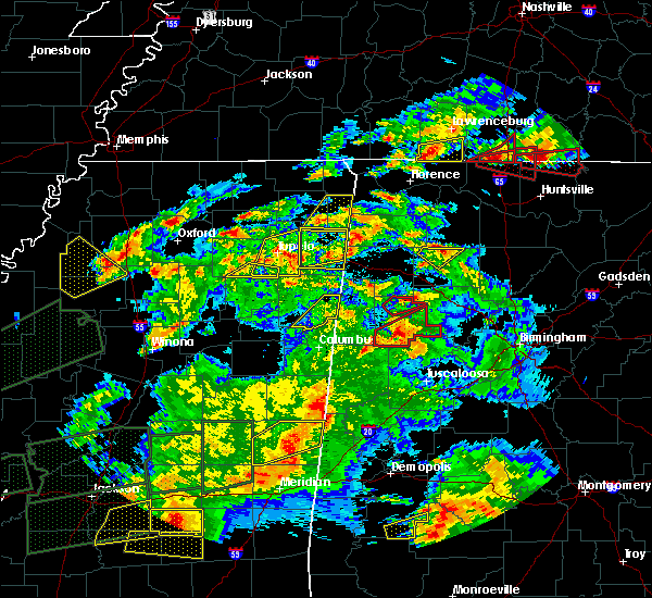 Radar Image for Severe Thunderstorms near Mantachie, MS at 3/31/2016 7:30 PM CDT