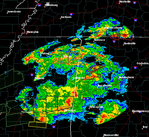 Radar Image for Severe Thunderstorms near Hillsboro, AL at 3/31/2016 7:34 PM CDT