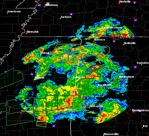 Radar Image for Severe Thunderstorms near Jumpertown, MS at 3/31/2016 7:38 PM CDT