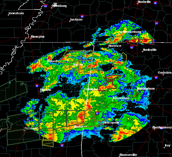 Radar Image for Severe Thunderstorms near Mantachie, MS at 3/31/2016 7:43 PM CDT