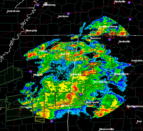 Radar Image for Severe Thunderstorms near Hillsboro, AL at 3/31/2016 7:46 PM CDT