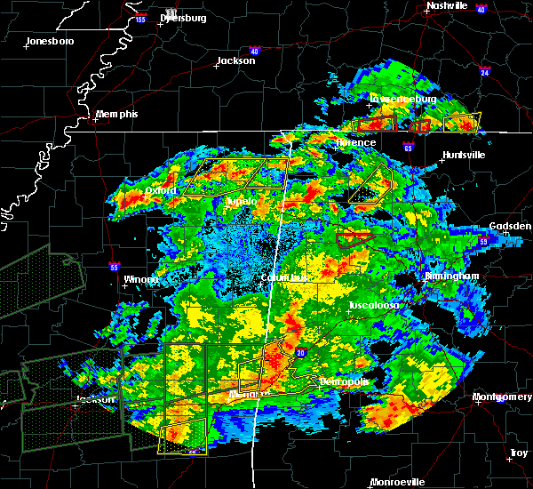 Radar Image for Severe Thunderstorms near Lauderdale, MS at 3/31/2016 7:59 PM CDT