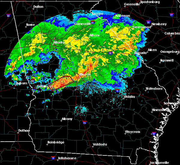 Radar Image for Severe Thunderstorms near Butler, GA at 4/1/2016 3:00 AM EDT