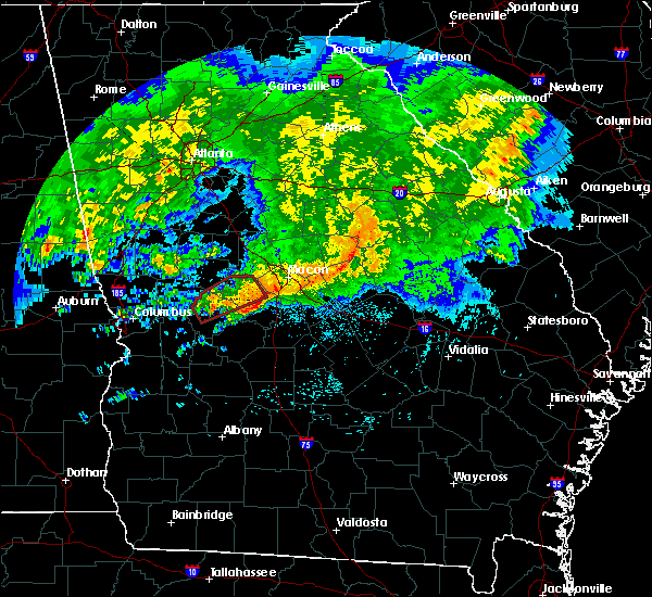 Radar Image for Severe Thunderstorms near Butler, GA at 4/1/2016 3:24 AM EDT
