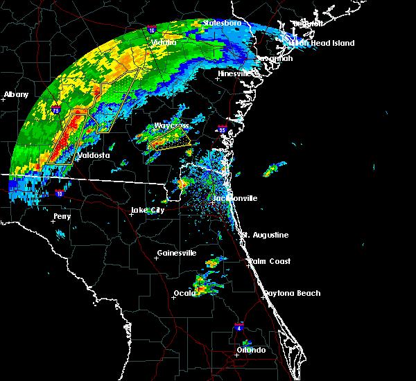 Radar Image for Severe Thunderstorms near Nahunta, GA at 4/1/2016 4:44 PM EDT