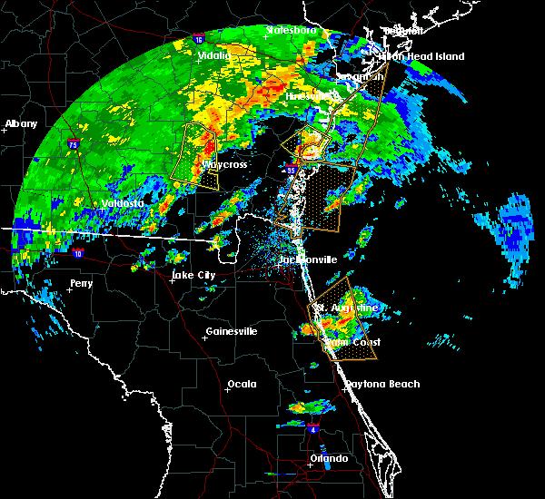 Radar Image for Severe Thunderstorms near Darien, GA at 4/1/2016 6:10 PM EDT