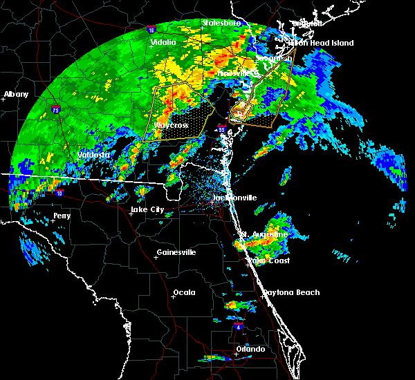 Radar Image for Severe Thunderstorms near Darien, GA at 4/1/2016 6:23 PM EDT