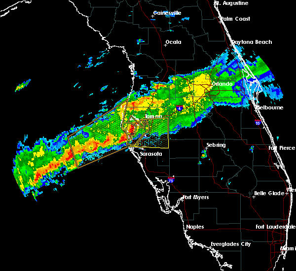 Radar Image for Severe Thunderstorms near Tampa, FL at 4/2/2016 12:20 PM EDT