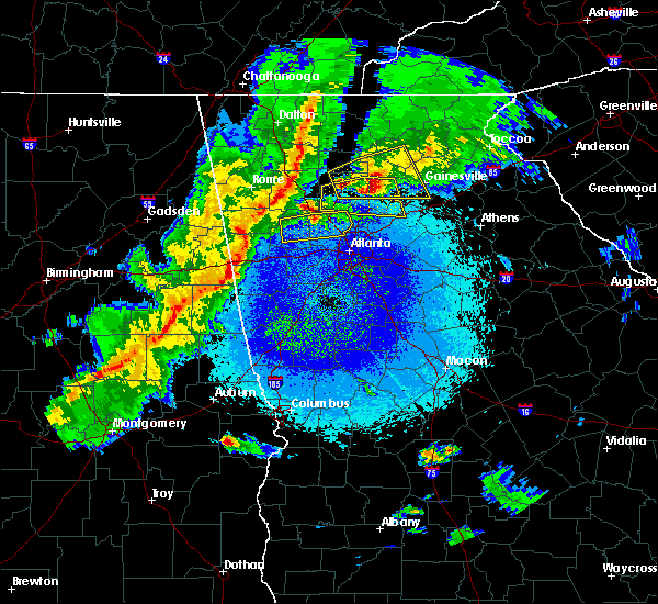 Radar Image For Severe Thunderstorms Near Gainesville GA At 4 6 2016 11