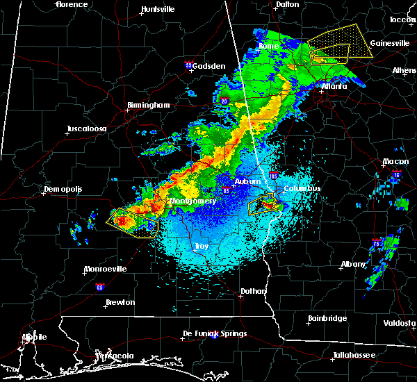 Radar Image for Severe Thunderstorms near Ladonia, AL at 4/6/2016 10:35 PM CDT