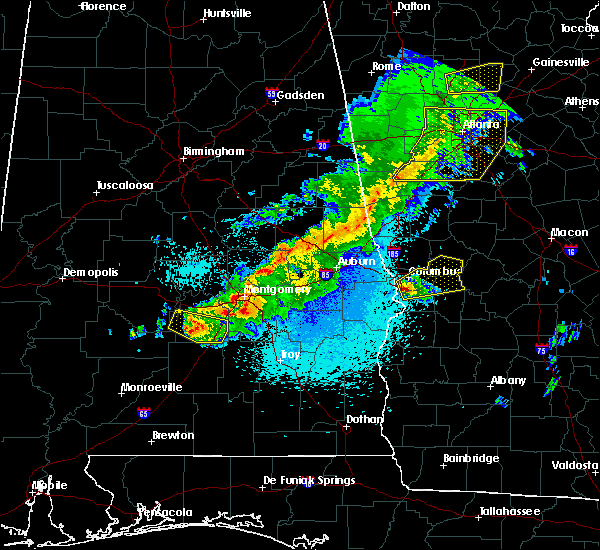 Radar Image for Severe Thunderstorms near Midway, AL at 4/6/2016 10:56 PM CDT