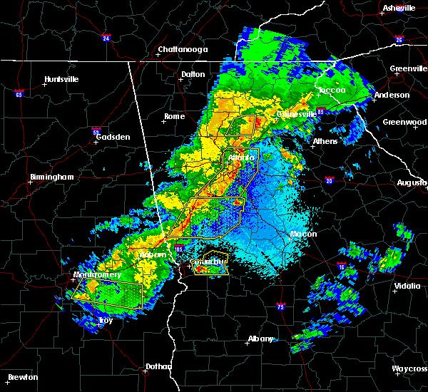 Radar Image for Severe Thunderstorms near Junction City, GA at 4/7/2016 12:17 AM EDT
