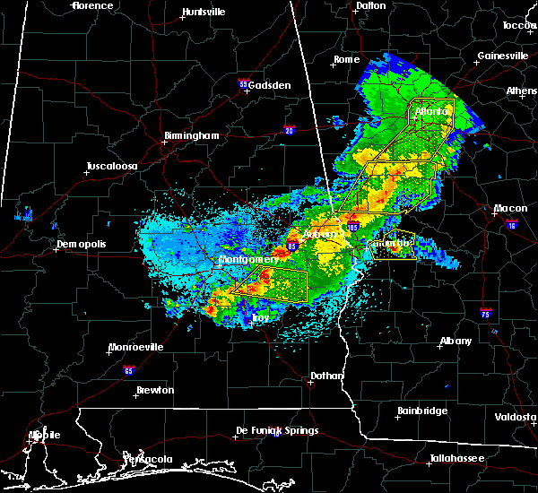 Radar Image for Severe Thunderstorms near Midway, AL at 4/6/2016 11:29 PM CDT