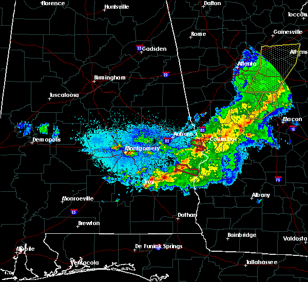 Radar Image for Severe Thunderstorms near Ladonia, AL at 4/7/2016 12:15 AM CDT
