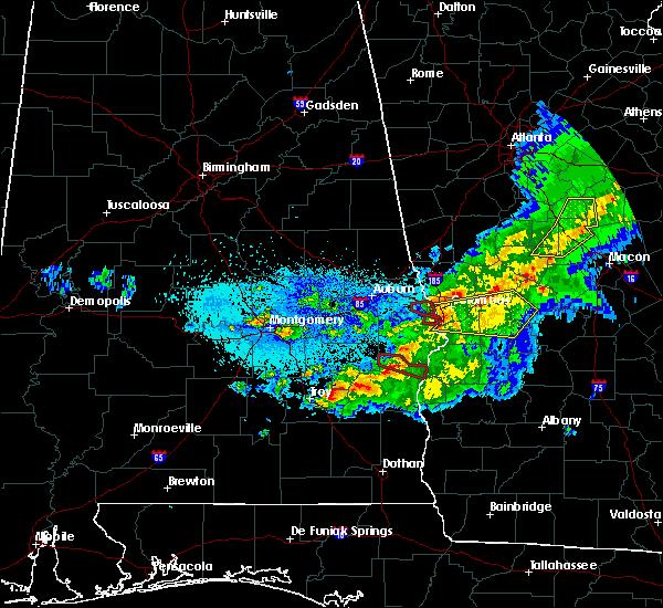 Radar Image for Severe Thunderstorms near Junction City, GA at 4/7/2016 1:19 AM EDT