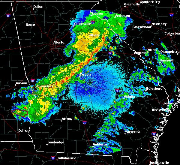 Radar Image for Severe Thunderstorms near Junction City, GA at 4/7/2016 1:44 AM EDT