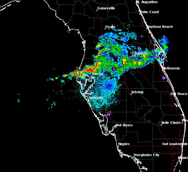 Radar Image for Severe Thunderstorms near Clearwater, FL at 4/7/2016 6:44 AM EDT