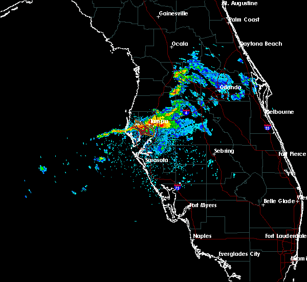 Radar Image for Severe Thunderstorms near Tampa, FL at 4/7/2016 7:31 AM EDT