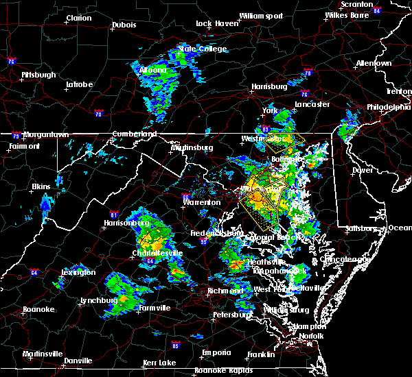 Radar Image for Severe Thunderstorms near Woodmore, MD at 4/7/2016 5:44 PM EDT