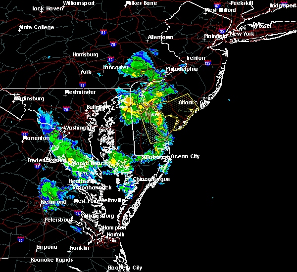 Radar Image for Severe Thunderstorms near Buena, NJ at 4/7/2016 7:12 PM EDT