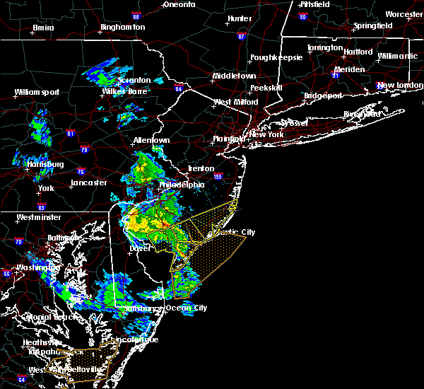 Radar Image for Severe Thunderstorms near Buena, NJ at 4/7/2016 7:43 PM EDT