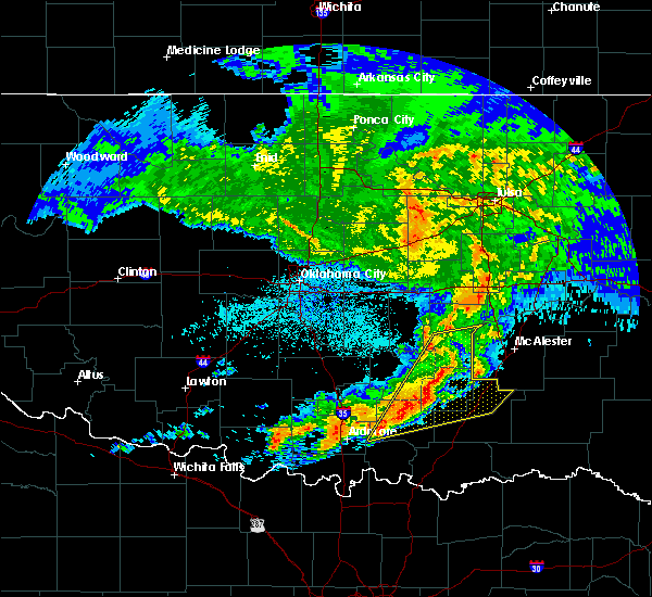 Radar Image for Severe Thunderstorms near Stuart, OK at 4/11/2016 1:35 AM CDT