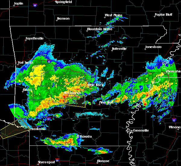 Radar Image for Severe Thunderstorms near Prattsville, AR at 4/11/2016 11:13 AM CDT