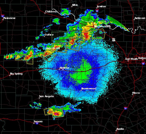 Radar Image for Severe Thunderstorms near Hamlin, TX at 4/19/2016 9:36 PM CDT