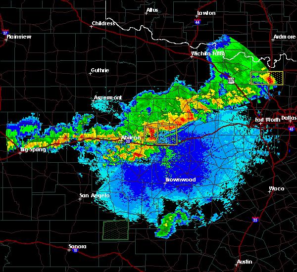 Radar Image for Severe Thunderstorms near Eastland, TX at 4/20/2016 12:07 AM CDT