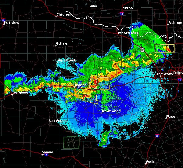 Radar Image for Severe Thunderstorms near Cross Plains, TX at 4/20/2016 12:16 AM CDT