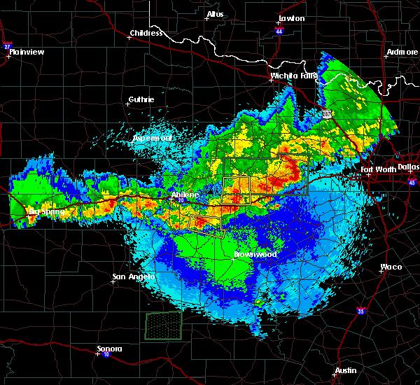Radar Image for Severe Thunderstorms near Eastland, TX at 4/20/2016 12:40 AM CDT