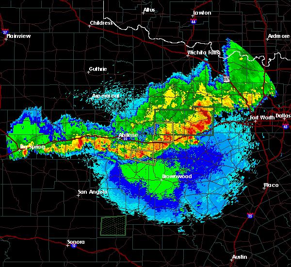 Radar Image for Severe Thunderstorms near Cross Plains, TX at 4/20/2016 12:47 AM CDT
