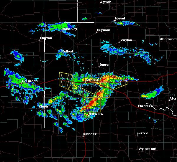Radar Image for Severe Thunderstorms near Vega, TX at 4/20/2016 7:57 PM CDT