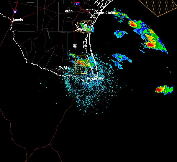Radar Image for Severe Thunderstorms near Laureles, TX at 4/24/2016 7:39 PM CDT