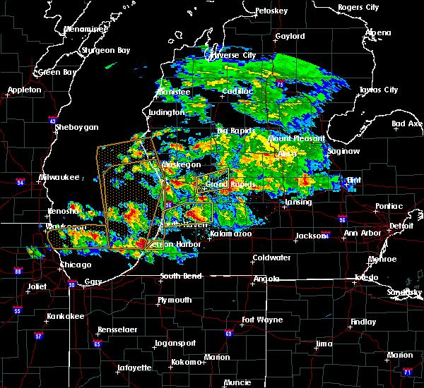 Radar Image for Severe Thunderstorms near Allegan, MI at 4/25/2016 9:18 PM EDT