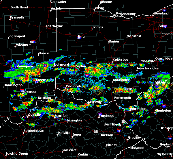 Radar Image for Severe Thunderstorms near Peebles, OH at 4/26/2016 5:40 PM EDT